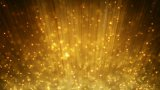 Loopable motion background rising gold particles