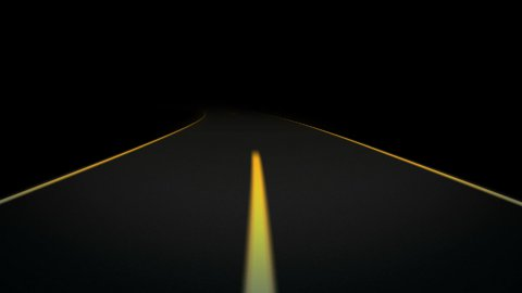 Night Road loop 03 - editable clip, motion graphic, footage stock