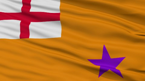 Orange Order Religious Close Up Waving Flag - editable clip, motion graphic, footage stock