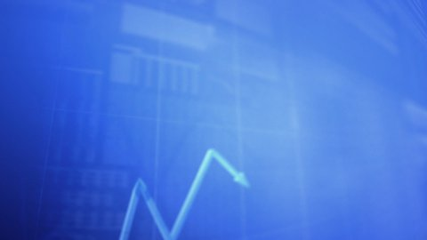huge charts background LOOPED - stock footage
