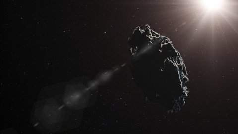 Asteroid - editable clip, motion graphic, footage stock