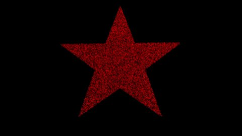 Crowd forms red star shape - stock footage