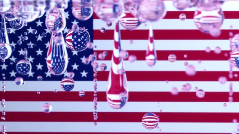 Leaking USA - stock footage
