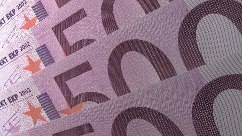 Texture Design 500 Euro Banknotes LOOP - stock footage