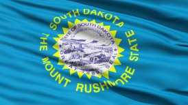 Waving Flag Of US State Of South Dakota LOOP