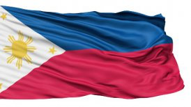 Flying Flag Of The Philippines LOOP - motion graphic