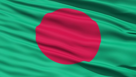 Waving Flag Of Bangladesh LOOP - stock footage