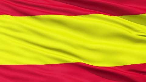 Waving Flag of Spain LOOP - stock footage
