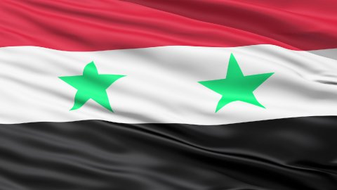 Waving Flag Of Syria LOOP - stock footage