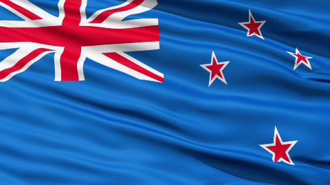 The New Zealand Flag LOOP - stock footage