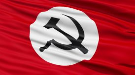 Realistic 3D detailed slow motion Union of Soviet Socialist Republics flag in the wind LOOP
