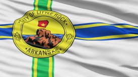 American State City Flag of Littlerock Arkansas