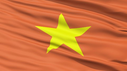 Yellow Star On Vietnam Flag - stock footage