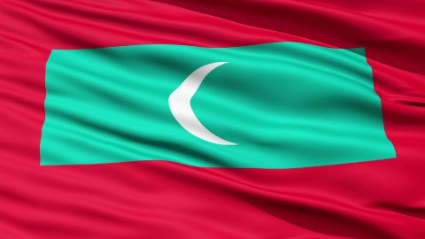 Republic of Maldives Flag - stock footage