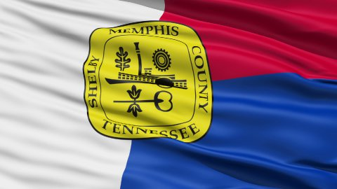 American State City Flag of Memphis - stock footage