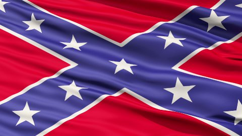 Confederate Battle Flag Close Up - stock footage