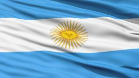 Flag Of Argentina Close Up Background