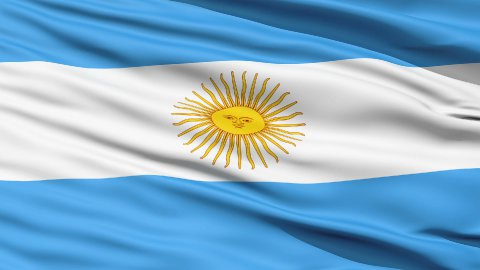 Flag Of Argentina Close Up Background - stock footage