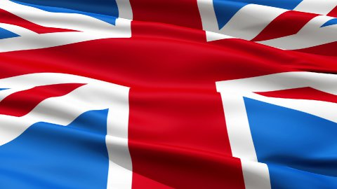 Flag United Kingdom Of Great Britain - stock footage