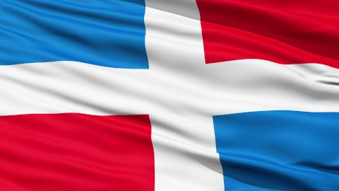 Civil Ensign Of Dominican Republic - stock footage