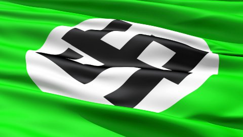 Flapping Green Flag With Dollar Sign - stock footage