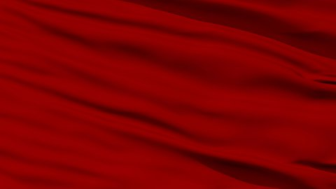 Waving red blank flag closeup - stock footage