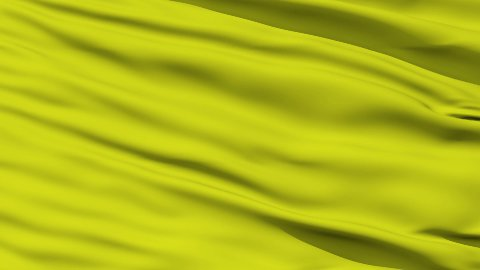 Waving yellow blank flag closeup - stock footage