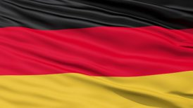Realistic 3D detailed slow motion germany flag in the wind