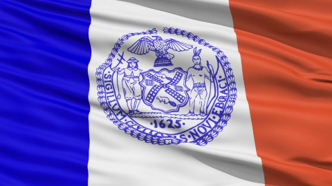 American State City Flag of New York - stock footage