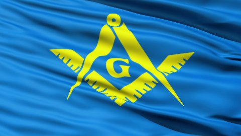 The Masonic Flag Of Freemasonry - stock footage