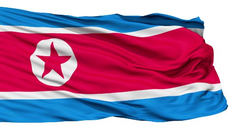 The North Korea Flag - stock footage