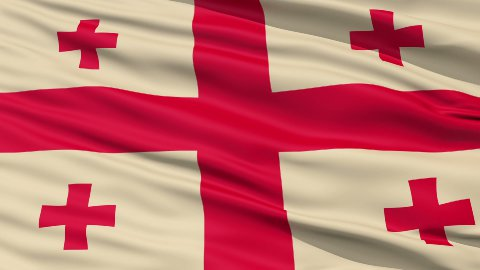 Fluttering Flag Of Georgia - stock footage