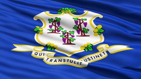 Waving Flag Of The State Of Conneticut - stock footage