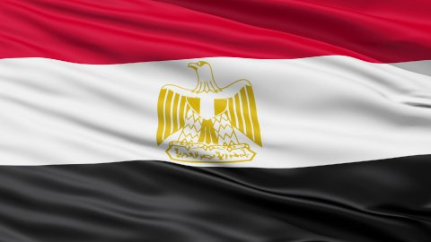 Flag of Egypt - stock footage