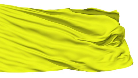 Waving yellow blank flag - stock footage