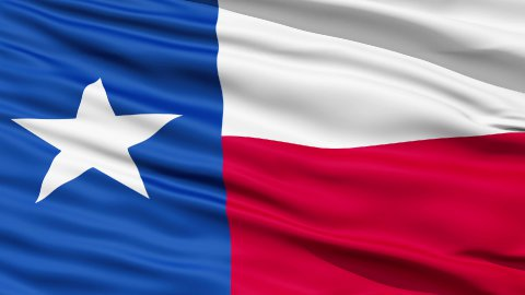The State of Texas Flag - stock footage