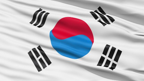 The South Korea Flag - stock footage