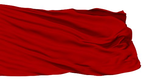 Waving red blank flag - stock footage