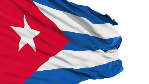 Realistic 3D detailed slow motion Cuba flag in the wind - stock footage