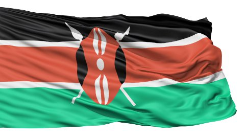 Flying Flag Of Kenya - stock footage