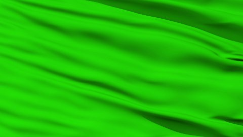 Waving green blank flag closeup - stock footage