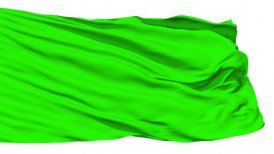 Waving green blank flag