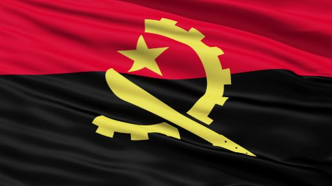 Waving Falg Of Angola - stock footage