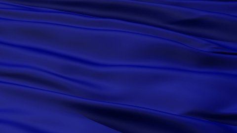 Waving blue blank flag closeup - stock footage