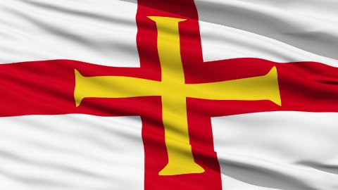 Flag Of The Bailiwick Of Guernsey - stock footage