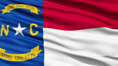 Waving Flag Of US State of North Carolina - stock footage