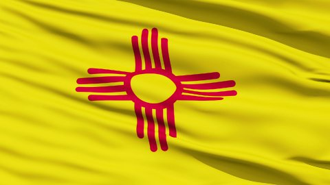 Waving Flag Of The US State Of New Mexico - stock footage