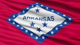 Waving Flag Of The US State Of Arkansas