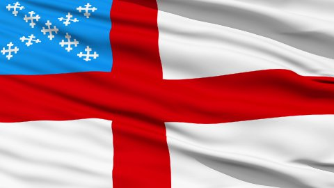 Flag Of The Episcopal Church - stock footage