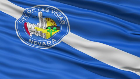 American State Capital City Flag of Nevada Kansas - stock footage